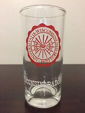 Vintage 1960s University Of Wisconsin Badgers Drinking Glass Seal Tall Tumbler