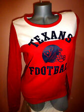 VICTORIA'S SECRET PINK TEXANS FOOTBALL Pullover Sweatshirt SZ-S/P NWT