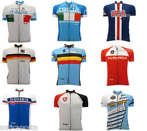 Maillot SkyLine Progetto Ciclismo National Italie Allemagne Autriche USA
