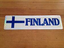 "Vintage Finland Bumper Sticker Flag 11 1/2"" by 3"" Car Window Nice"