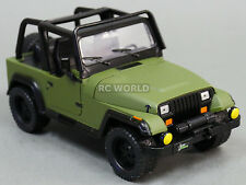 1/24 DieCast 1990's  JEEP WRANGLER RUBICON Model TRUCK Army GREEN
