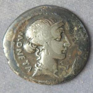 Roman Republic Silver Denarius T Carisius Moneta 46BC