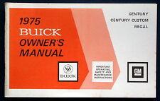 Owner's Manual * Betriebsanleitung 1975 Buick Century  Regal     (USA)