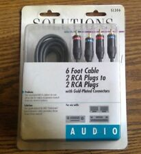 SOLUTIONS RCA Audio Cable 6 ft. long with gold plated plugs