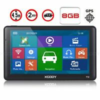 "XGODY 712 7"" Capacitive Panel Car GPS Navigation 256MB/RAM 8GB Speedcam Sunshade"