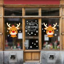 2020 Year Christmas Home Rooms Decor Wall Stickers Window Decals Cute Elk Art