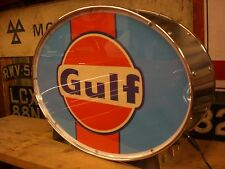 Gulf,fuel,petrol,oil,classic,racing,vintage,mancave,lightup sign,garage,workshop