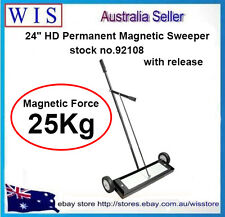 "24"" HD Permanent Magnetic Floor Sweeper With Release,Power Broom Sweeper-92108"