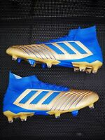 Adidas Fußballschuhe Predator 19.1 FG Primeknit Gold Blau Gr.43 1/3 LP:219€ NEU