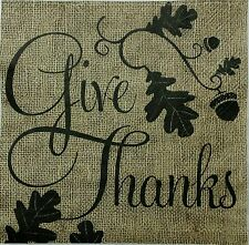 INSPIRATIONAL THANKSGIVING 2 single LUNCH SIZ paper napkins for decoupage 3-ply