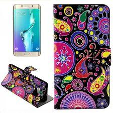 CARTERA DE LUJO motivo de Bolsa 8 para Samsung Galaxy S6 EDGE PLUS G928 PARA