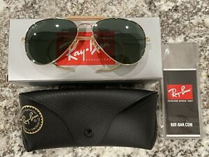 Ray-Ban OUTDOORSMAN Gold l Green Classic G-15 RB3030 L0216 58mm NEW