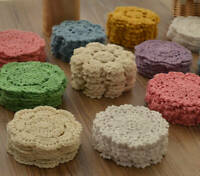 Lot 15 Hand Crochet Round Small Doilies Set Snowflake Floral