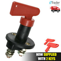 Universal 12V Battery Isolator Kill Switch Cut Off Car Boat Van Truck UK 2 Keys