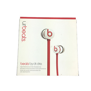 FOR PARTS Ur Beats Dr.Dre In Ear Stereo White/Red Cord Wired Headphones/Earbuds