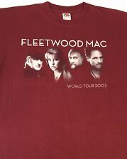 New! FLEETWOOD MAC World Tour 2003 T - Shirt - XL Burgundy