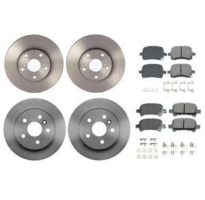 Akebono Front and Rear Brake Kit ProAct Pad Set Rotors For Toyota Avalon 3.0L V6