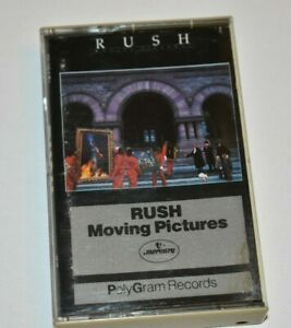 CASSETTE TAPE Rush Moving Pictures 80's rock album 1981 Polygram Tom Sawyer