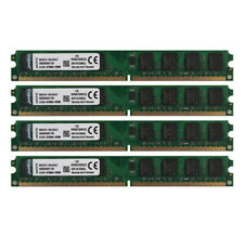 New listing For Kingston 4pcs 2Gb Pc2-5300U Ddr2 667Mhz 240Pin Desktop Dimm Memory Ram @My