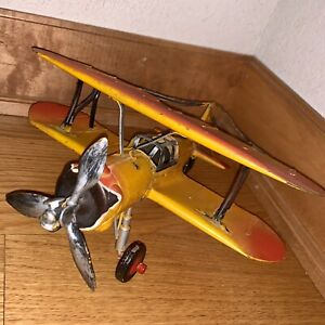 Vintage F803 Bi-Wing WWI Single Engine Fighter Plane Airplane Replica 9x9x5""
