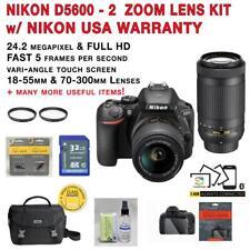 NEW Nikon D5600 Kit w/AF-P 18-55mm VR & AF-P 70-300mm zoom lenses + MORE!