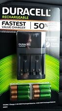 Duracell ION SPEED 4000 Battery Charger w/ 6 AA and 4 AAA Recharge Batteries