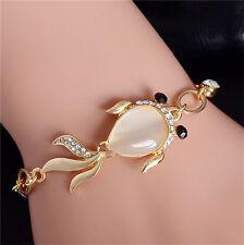Opal Austrian Crystal 18K gold Plated Lovely Fish Shape For Girls Women Bracelet