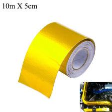 10m*5cm Aluminum Foil Tape Car Exhaust Pipe Decorative Tape Insulation Tape Gold