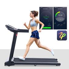 7.5mph Folding Treadmill on Wheels 550W Home Treadmill Cardio Exercise Equipment