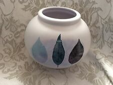 Portmeirion round pottery vase, Dusk by Jo Gorman