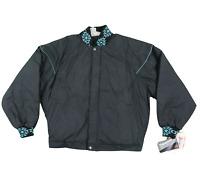 NOS Vtg 90s Walls Blizzard Pruf Navajo Print Bomber Jacket Black Mens 2XL USA