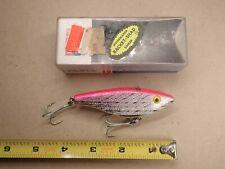 Vintage NOS Rebel Racket Shad Largemouth Bass Fishing Lure Tough Color Pink NIB