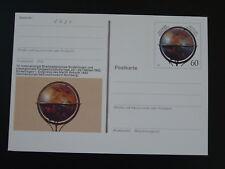 geography globe geodesy postal stationery card Germany 77966