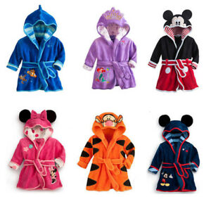 Baby Boys Girls Robe 2018 Children bathrobe Minnie Mickey Soft Velvet Pajamas