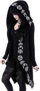 NEU Jacke Weste Moon schwarz mit Kapuze 36 S Gothic Lolita Cosplay Rockabilly