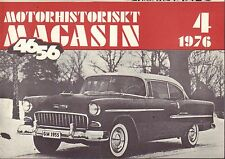 Motorhistoriskt Magasin Swedish Car Magazine 4 1976 Chevrolet 032717nonDBE