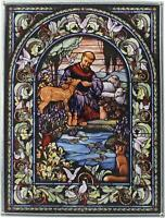 Stained Glass St. Francis Panel