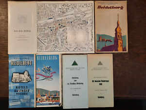 kleines Konvolut Heimatkunde Prospekte  Reiseführer Heidelberg 1920- 1968