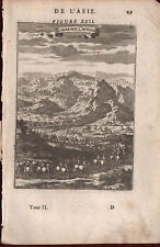 1683 Tombeaux Chinois L'Asie Mallet Copperplate Engraving China Asia Print Tombs