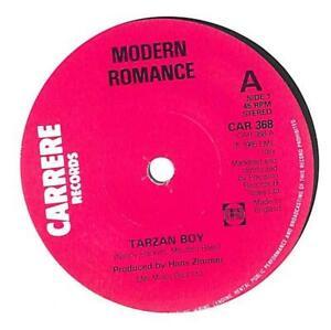 "Modern Romance Tarzan Boy UK 7"" Vinyl Record Single 1985 CAR368 Carrere 45 VG"