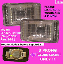 Toyota Landcruiser 80 Series 8/1992on Crystal Indicators Right Left ***3 Prong**