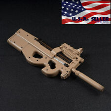 "1/6 Scale P90 Rifle Submachine Gun Toys Weapon Models For 12"" Figure ❶USA❶"