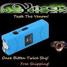 Viper Blue 2900 Million volt Rechargeable Stun Gun LED light with taser Holster