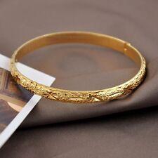 Women's Bracelet Charms 18K Yellow Gold Filled Bangle 60mm Fashion Jewelry