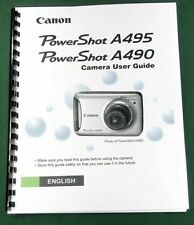 Canon PowerShot A495 A490 Instruction Manual: 132 Pages & Protective Covers