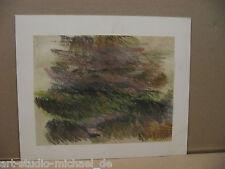 """Norddeutsche Künstler: Elizabeth Noltenius """"Landschaftsstudie"""", Pastell, um 1930"""