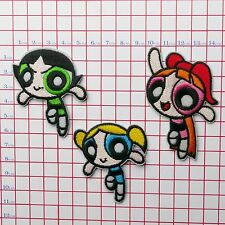 POWERPUFF GIRLS - Set of Embroidered Patches Iron-On Patch Collection