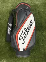 Titleist Trial Set Display Cart Golf Bag Mini Staff Black Red White 6-Way Divide