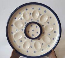 Eier Platte Servierplatte Keramik  robust gemarkt: B&B Töpferei Frommhold Jens