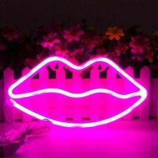 Indoor LED Neon Sign Night Lights 3D Lips Lamp Wall Decor Light for Kids Room